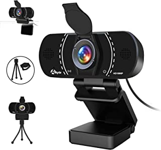 1080P Webcam with Microphone and Privacy Cover, Akyta USB Web Computer Camera, 110 Degree Wide Angle, Desktop PC Laptop HD...