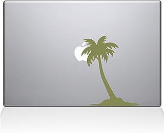 "The Decal Guru Palm Tree Decal Vinyl Sticker, 12"" MacBook, Gold (2304-MAC-12M-G)"