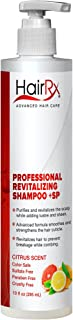 HairRx Professional Revitalizing Shampoo +SP (for Oily Scalps) with Pump, Light Lather, Citrus Scent, 10 Ounce