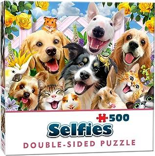 Cheatwell Games Husdjur pussel, dubbelsidig, 500 bitar – selfie av älskvärda husdjur