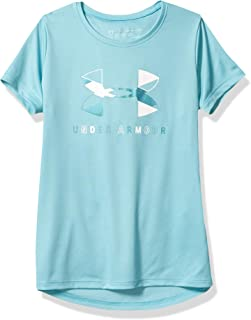 Under Armour Girls' Big Logo Tech Short Sleeve Training Workout T-Shirt