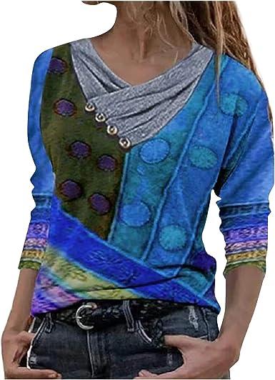 Sudadera para Mujer,Moda Manga Larga Casual Fuera del Hombro Sudaderas Cortos Cuello Redondo Jersey Mujer Otoño Primavera Blusa Tops Tumblr Suéter ...