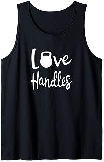 Love Handles Kettle Bell Yoga Workout Mens Womens Tank Top