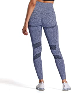 Aoxjox Women's High Waist Seamless Leggings I-Contour 7/8 Length Compression Athletic Gym Workout Yoga Pants Tights