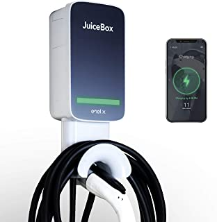 JuiceBox 40Next Generation Smart Electric Vehicle (EV) Charging Station with WiFi - 40 amp Level 2 EVSE, 25-Foot Cable, UL & Energy Star Certified,Indoor/Outdoor Use (NEMA 14-50 Plug, Black/Grey)