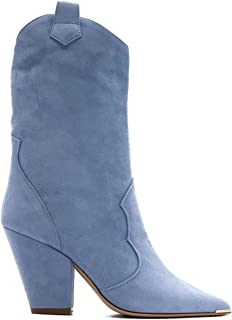 ALDO CASTAGNA Luxury Fashion Womens FEDE3CELESTE Light Blue Ankle Boots |