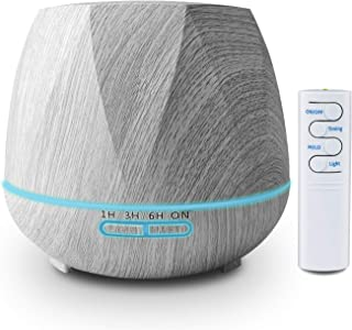 K KBAYBO 550ml Essential Oil Diffuser, Aromatherapy Ultrasonic Cool Mist Humidifier - Remote Control 7 Color LED Lights Wa...
