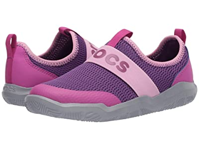 Crocs Kids Swiftwatertm Easy On Logo Shoe (Toddler/Little Kid) (Amethyst/Vibrant Violet) Kid