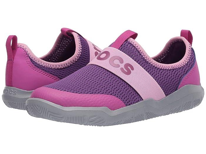 Crocs Kids  Swiftwatertm Easy On Logo Shoe (Toddler/Little Kid) (Amethyst/Vibrant Violet) Kids Shoes