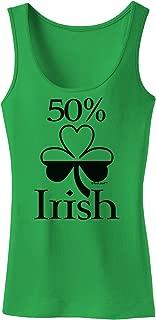 50 Percent Irish - St Patricks Day Womens Tank Top