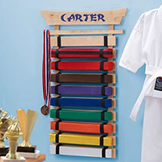 DIBSIES Personalization Station Personalized Karate Belt Display (10 Belts)