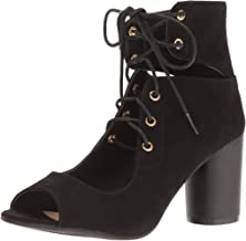 Qupid Women's Cylinder-03 Ankle Bootie