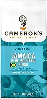 Cameron's Coffee Roasted Whole Bean Coffee, Jamaica Blue Mountain Blend, 10 Ounce