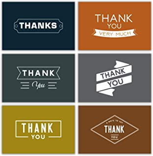 Men Thank You Notes Bulk Retro 48 Thank You Cards Bulk w/Stickers & White Envelopes – Vintage & Retro – 4x6 Blank Note Cards – Perfect for Weddings, Bridal Showers, Graduation, and Baby Showers