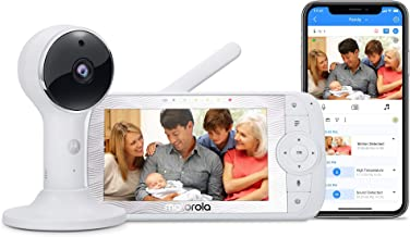 "Motorola Connect60 Wireless Video Camera – 5"" Parent Unit and WiFi HD 1080p for Baby, Elderly, Pet –- Two-Way Audio, Night Vision, Temperature Sensor, Digital Pan/Tilt/Zoom"