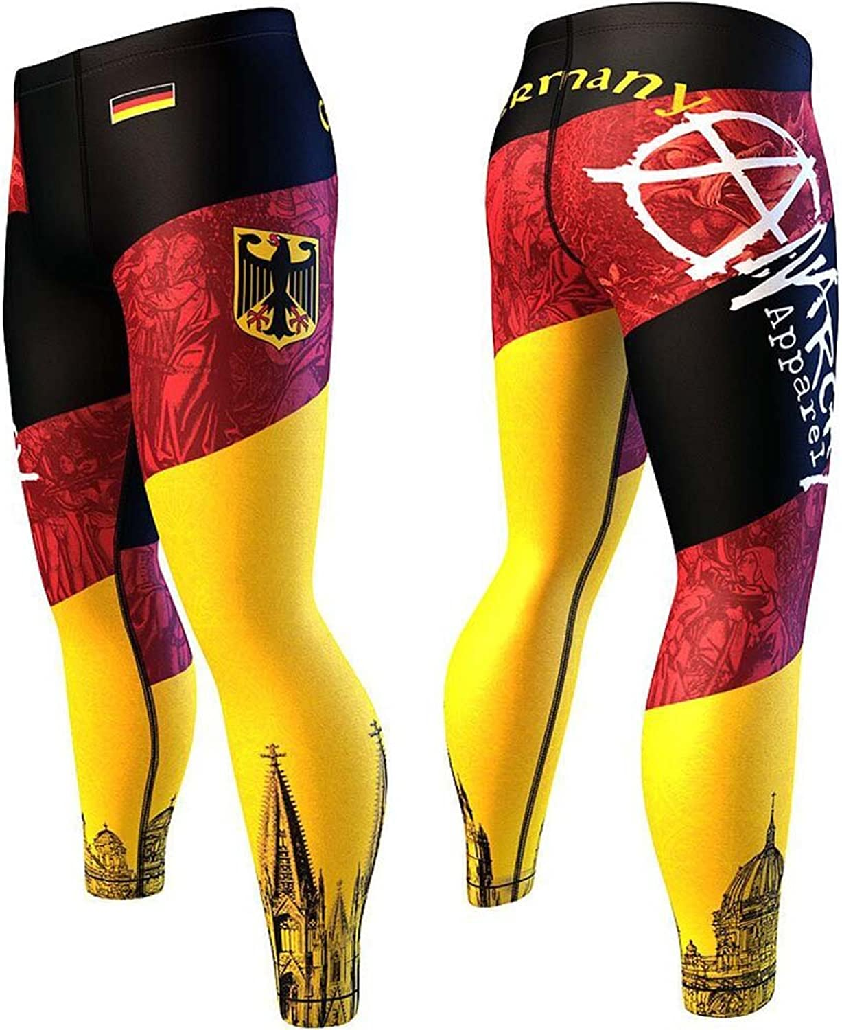 Anarchy Apparel Compression Pants, Germany, MMA Fitness Gym, Aerobic Sport Hosen