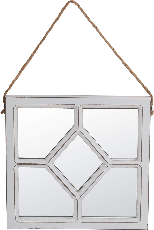 Privilege White 100% quality Max 53% OFF warranty Diamond-Motif Wall Mirror