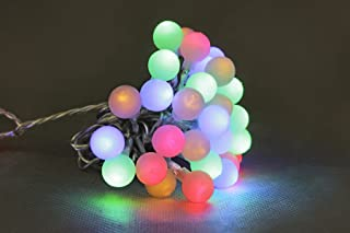Opus 24v 10L Multi Colour Frosted Ball String Lights for Party/Wedding/Home Decoration with Transformer Included