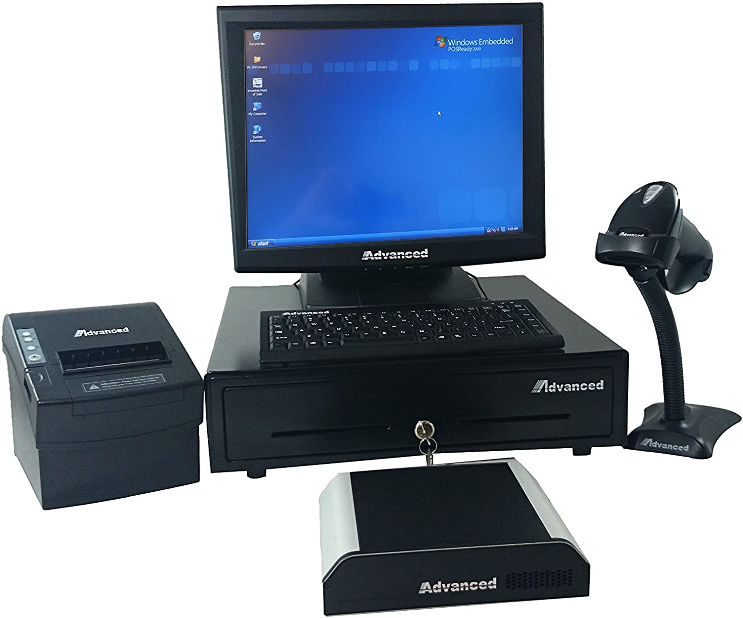 Point of Sale System Only Hardware,Monitor Touch Screen,pc,barcode Scanner,cash Drawer.