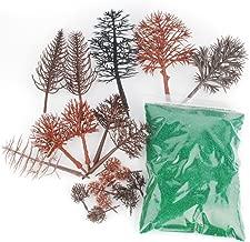 NWFashion Bare Plastic Tree for Model Train Railways Scenery Building Landscape (20pcs Tree+80G Grass)
