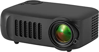 Pico Video Projector - Pocket Size Portable Mobile Mini Projector with Built-in Speakers, 3.5mm Aux Out, Micro SD/USB
