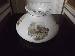 Vintage - Four Seasons Milk Glass Shade - Gone With The Wind - (Large)