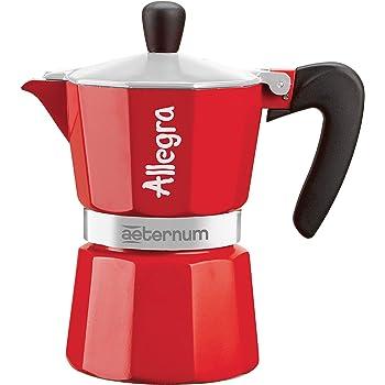 Bialetti - Cafetera Espresso Allegra para una taza, aluminio, rojo, 13 x 7 x 12 cm: Amazon.es: Hogar