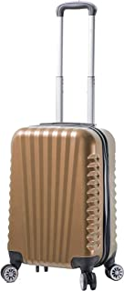 Viaggi Mia Viaggi Italy Catania Hardside Spinner Carry-on, Champagne (Yellow) - V1048-20IN-CHAN