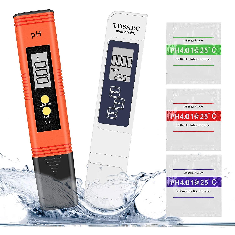 Medidor Ph, Winzwon Medidor de Ph con Alta Precisión y Pantalla LCD, Medidor Ph Agua Calidad del Agua Medidor de Prueba Para Agua Potable, Piscina, Hidropónico, Acuario
