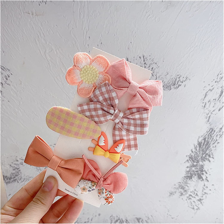 New product!! DUOYINGMY Hairpin 7 Pcs Children39;s Bow Fabric Cartoon Cute Ranking TOP5 Hai