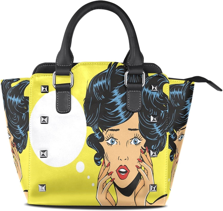 Womens Genuine Leather Hangbags Tote Bags Wonder Woman Purse Shoulder Bags