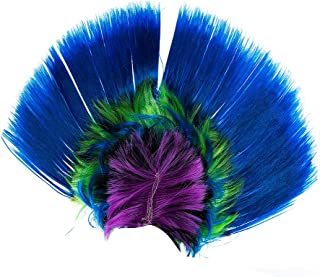 Halloween 80s Mohawk Wig Street Punk Costume Party Cosplay Events Wigs Cap for Kids Adult Men and Women (Rainbow Blue)