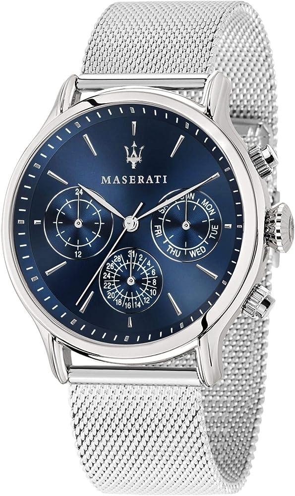 Maserati Orologio da uomo, collezione epoca  in acciaio inossidabile 8033288813668