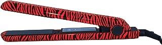 RoyalCraft TM Hair Straightener Iron Red & Black Zebra Print Ceramic Professional Immediate Heat Up.