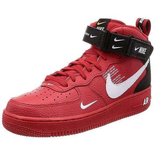 Nike Air Force 1 Mid '07 LV8 Hi Top Basketball Retro Style Sneakers für Herren in rot