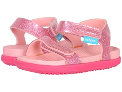Native Kids Shoes Charley Glitter (Toddler) (Princess Pink Glitter/Hollywood Pink) Girl