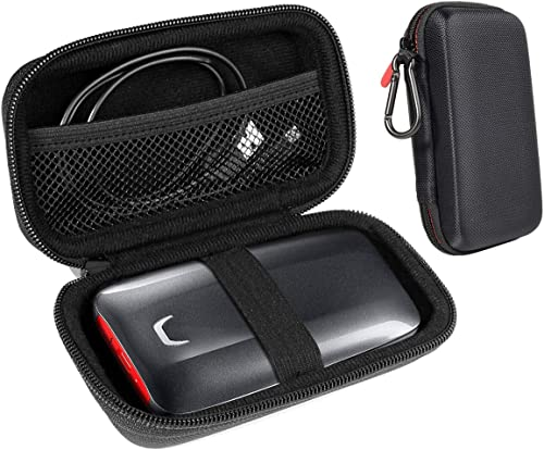 popular InGo Portable SSD Protective Case Compatible with SanDisk 1TB Extreme Portable SSD and Samsung X5 Portable SSD discount - 1TB - Thunderbolt 3 External SSD, sale Carabiner+mesh Pocket+Secure Elastic Strap outlet online sale