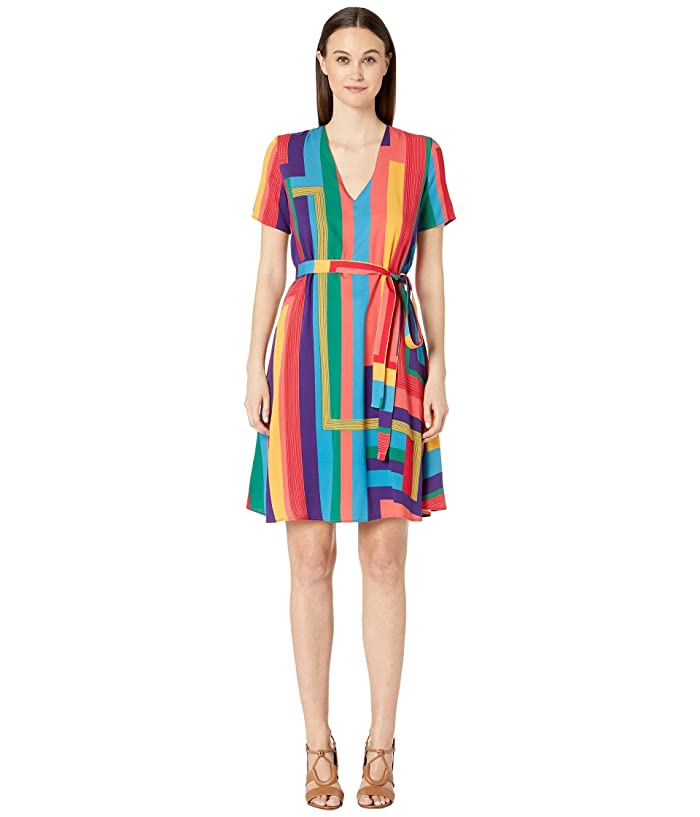 Paul Smith Striped Wrap Dress (Multicolor) Women