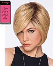 Layered Bob Color SS25 Ginger Blonde - Hairdo Wigs Soft Side Swept Bang Tru2Life Heat Friendly Synthetic Volume Sleek Curves Bundle with Maxwigs Hairloss Booklet
