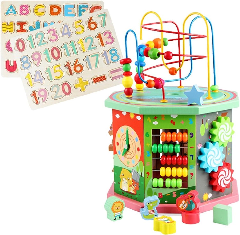 Yuankaiyu Baby Kind Holz Bead Maze Intellektuelle Bildung Spielzeug Weihnachtsgeschenk, Eine Vielzahl von Holzspielzeug
