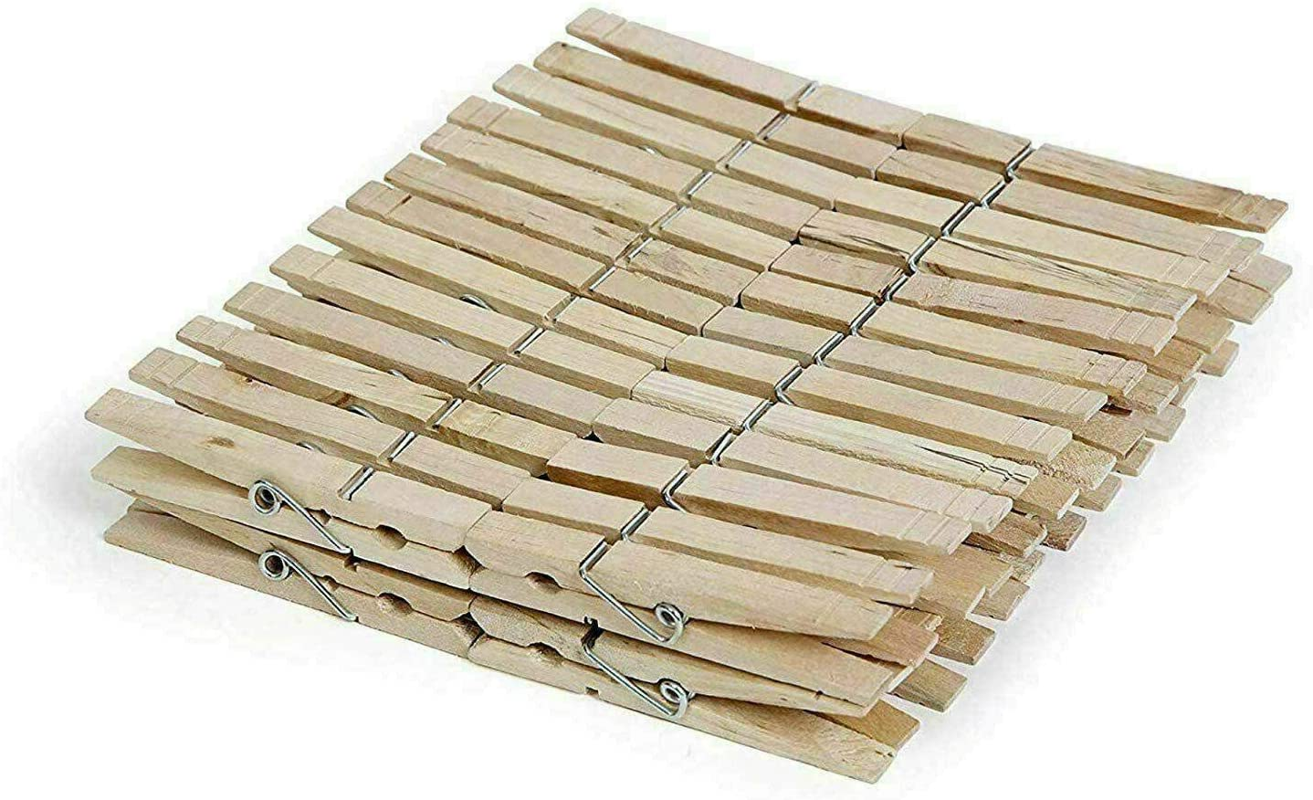 50 Pcs Direct store Wooden Clothespins Wood Regular Size Clothes Challenge the lowest price of Japan Pins Laundry