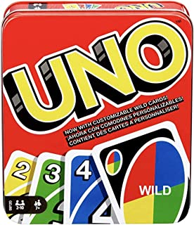 UNO Playing Card Game Standard Classic & Wild Options (Uno, Wild Tin Box)