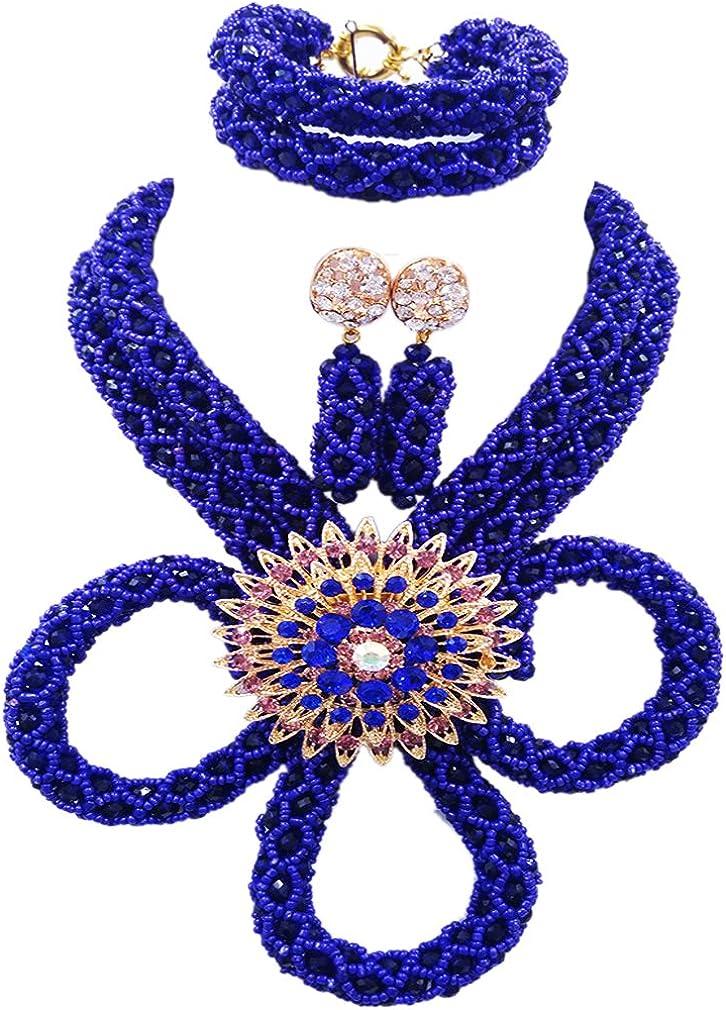 aczuv Nigerian Wedding African Beads Crystal Jewelry Set Phoenix Mall Bridal Directly managed store