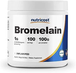 Nutricost Bromelain Powder 100 Grams - Bromelain (2400 GDU/g), Non-GMO, Gluten Free