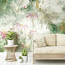 RoomMates Green & Pink Jungle Lily Mural Peel and Stick Wallpaper