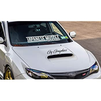 Rdecals Japanese Muscle Windshield Banner Decal//Sticker 4.5x33
