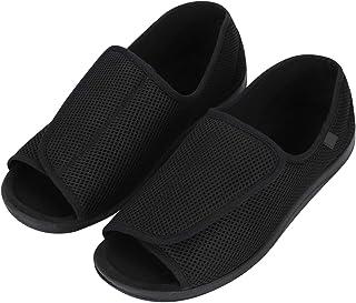 IBLUELOVER - Pantuflas diabéticas para hombres y mujeres, de espuma viscoelástica, zapatillas ajustables, cierre de velcro...
