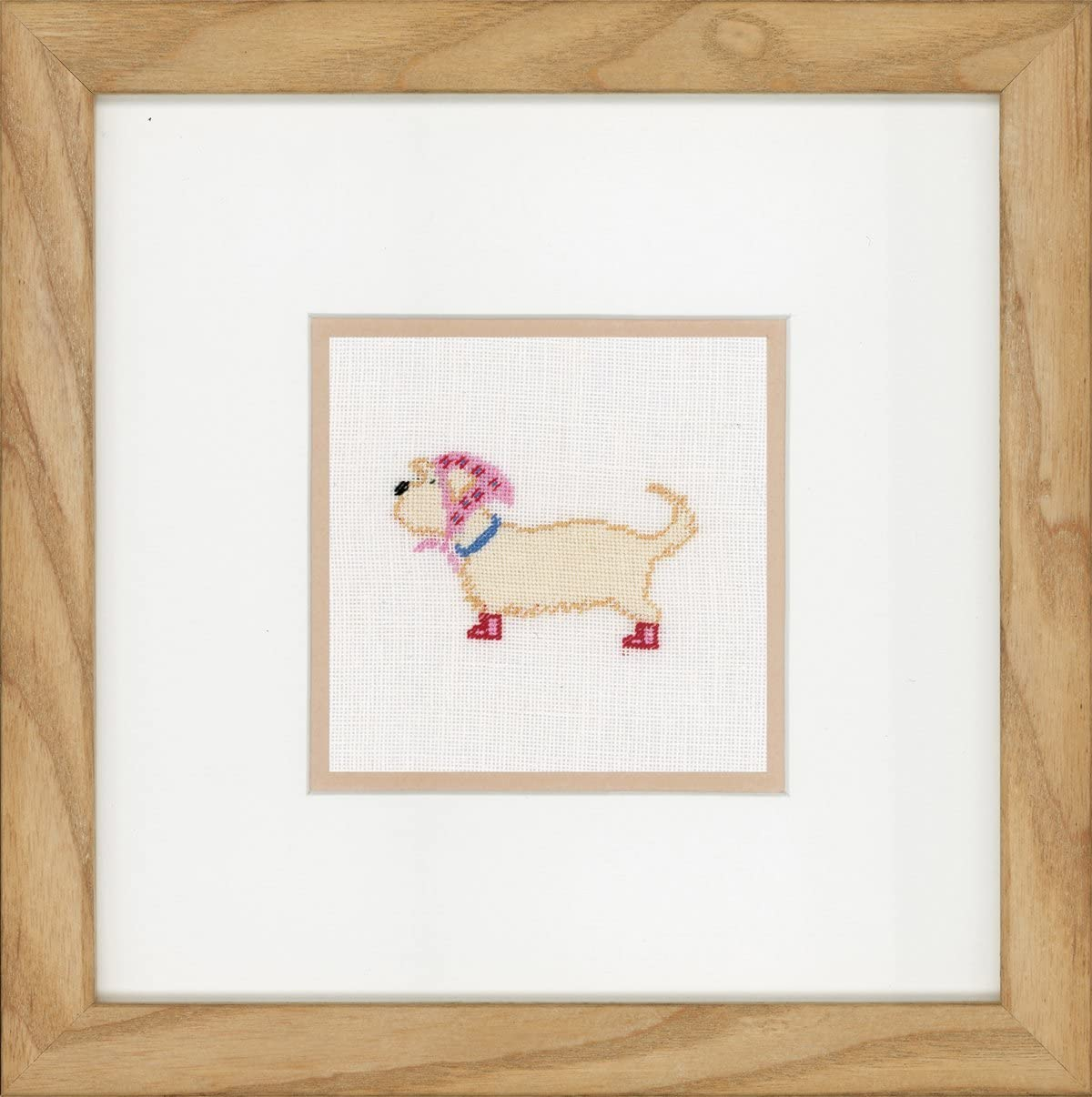 Counted Cross Stitch Kit: in Dog Japan's largest Max 40% OFF assortment Linen Scarf