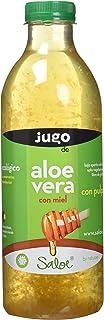 Saloe Jugo Aloe Vera y Miel Ecológico - 3 Recipientes de 1000 ml - Total: 3000 ml