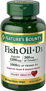 Nature's Bounty Fish Oil + D3 1200 mg Softgels 90 ea